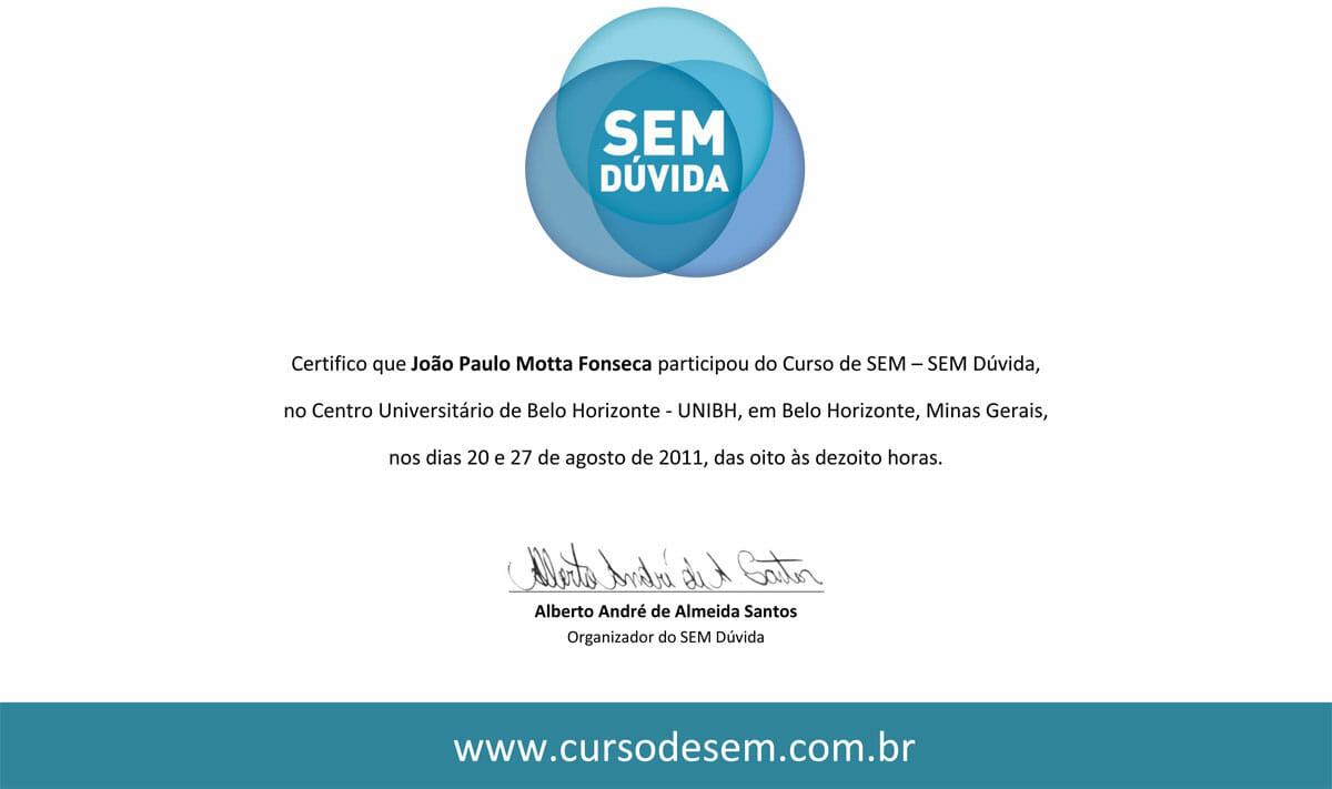 Curso SEM Dúvida 2011