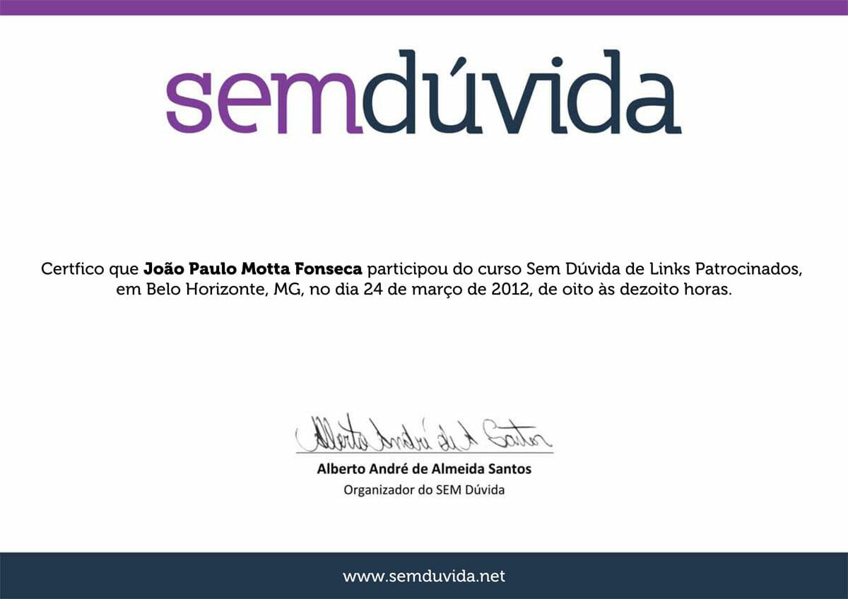 Curso SEM Dúvida 2012 - Links Patrocinados