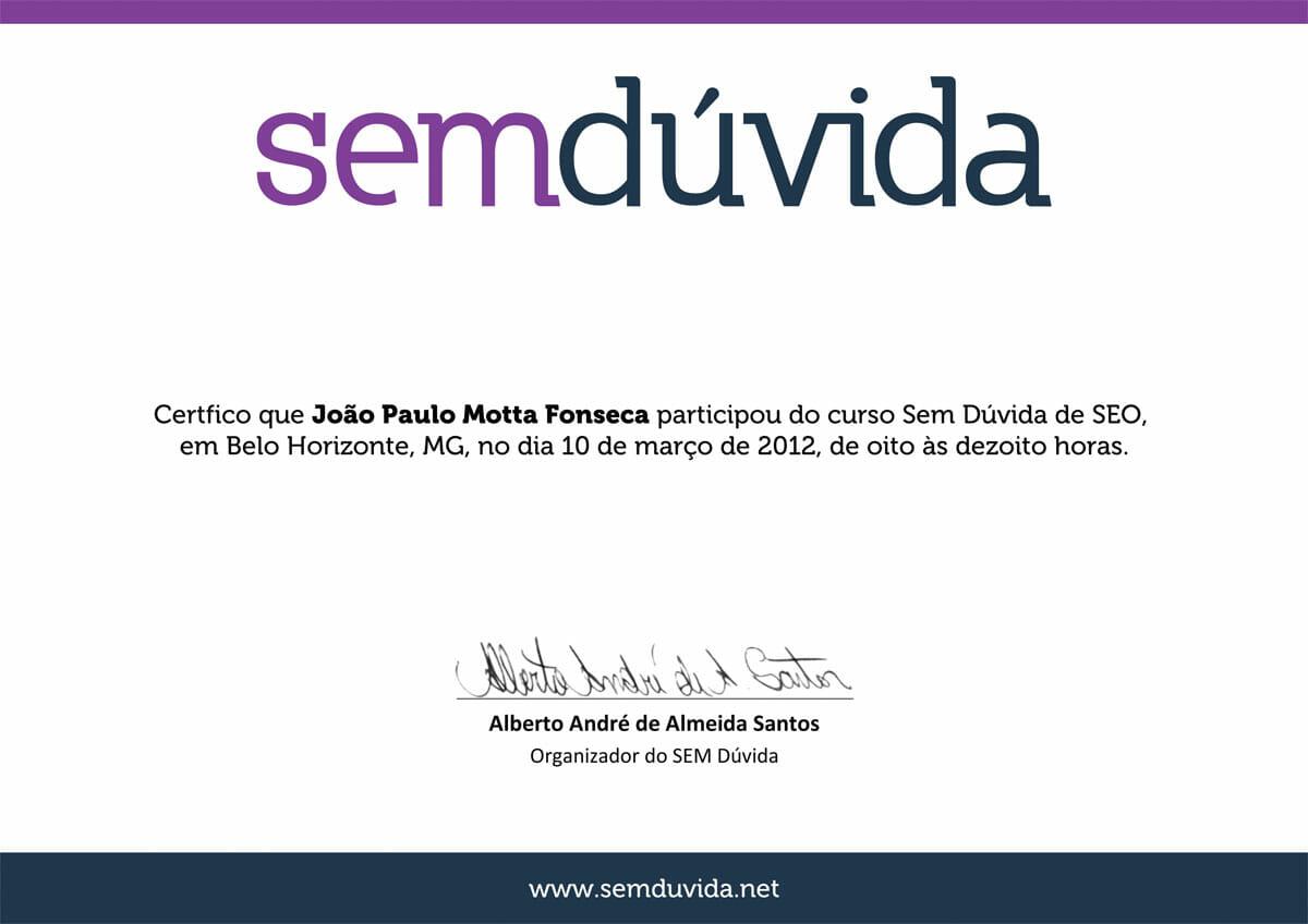 Curso SEM Dúvida 2012 - SEO