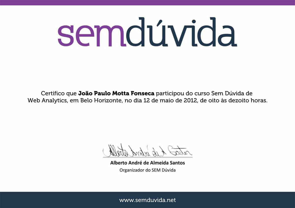 Curso SEM Dúvida 2012 - Web Analytics